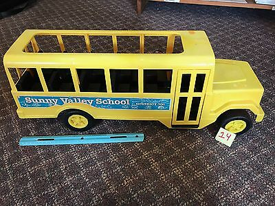 """Vintage Toy School Bus by Processed Plastic Toy Company 24"""" Lightweight USA"""