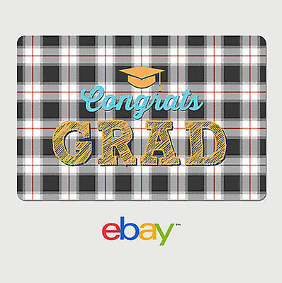 eBay Digital Gift Card - Graduation Plaid - Email Delivery
