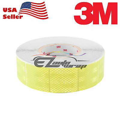 """3M Diamond Grade Neon Yellow Conspicuity Tape 2"""" x 2"""" CE Approved Reflective"""