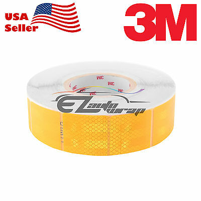 """3M Diamond Grade Golden Yellow Conspicuity Tape 2"""" x 2"""" CE Approved Reflective"""