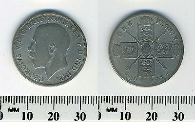 Great Britain 1921 - 1 Florin Silver Coin - King George V