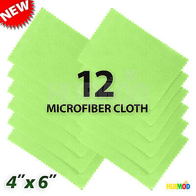12-Pack Microfiber Cleaning Cloth LCD Screen Lens Camera Eyeglasses Glasses 4x6""