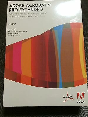 Adobe Acrobat 9 Pro Extended RRP $995 AUD