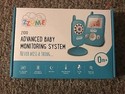 Zzume (Z100) Wireless Video Baby Monitor With Night Vision Temperature Sensor