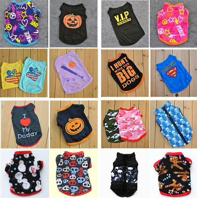 New Cute Pumpkin Various Pet Puppy Small Dog Cat Pet Clothes Cotton Vest T-Shirt