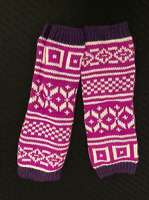 Girls Kid Leg Warmers Purple Pink
