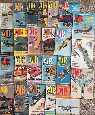 Lot Of 24 AIR CLASSICS Magazines (Vintage- Mostly From The 1960s)