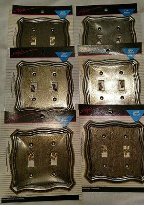 6 Vintage NOS American Tack & HDWE Cast Metal Light Switch Covers
