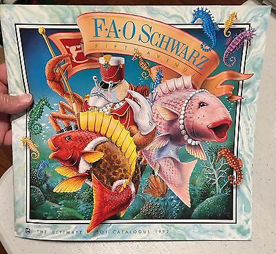 1992 FAO Schwarz Toy Catalog; Fr-Sign of the Seahorse, Bk-FAO Barbie Madison Ave