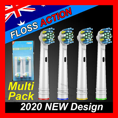 FLOSS ACTION Oral B Compatible Electric Toothbrush Replacement Brush Heads x20
