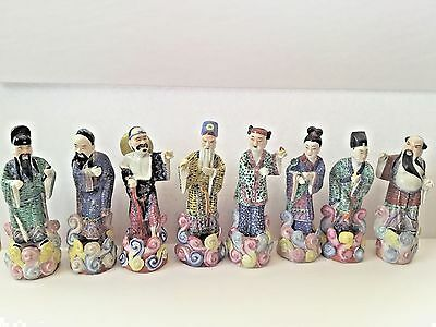 8 Immortal Antique 1900 Chinese Porcelain Statue