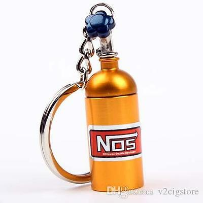 Gold Nos Bottle Key Chain With Container Pocket!