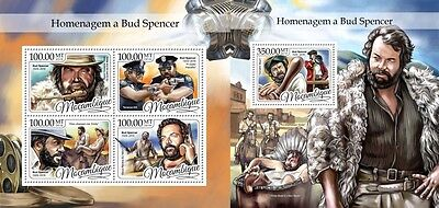 Z08 IMPERFORATED MOZ16403ab MOZAMBIQUE 2016 Bud Spencer MNH Mint Set