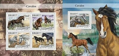 Z08 IMPERFORATED MOZ16414ab MOZAMBIQUE 2016 Horses MNH Postfrisch Set