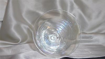 6 Unique Reflecting Clear Glass  Goblets