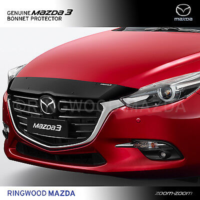 New Genuine Mazda 3 BN Bonnet Protector Smoked 2016 2017 Accessory Part BN11ACBP