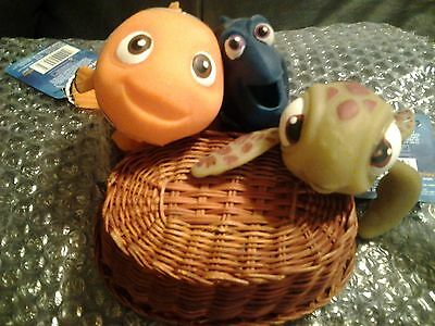 Imperial Toy Lifelike Finding Nemo Set Of 3  .  Stretchy . Squirt, Dory, Nemo