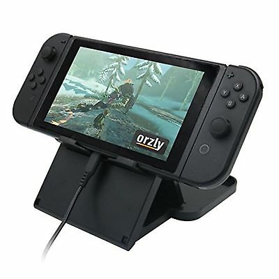 Orzly Play Stand for Nintendo Switch [With Air-Vent Access] BLACK Foldable Mu...