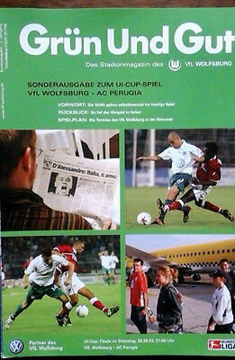 Vfl Wolfsburg V Perugia 26/8/2003 Uefa Intertoto Cup Semi Final