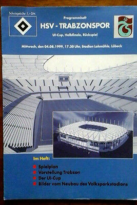 Hamburg V Trabzonspor 4/8/1999 Uefa Intertoto Cup Semi Final