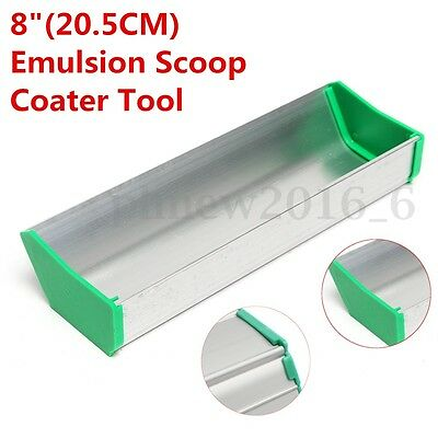 20cm 8'' Emulsion Scoop Coater Aluminum Silk Screen Press Printing Coating Tool
