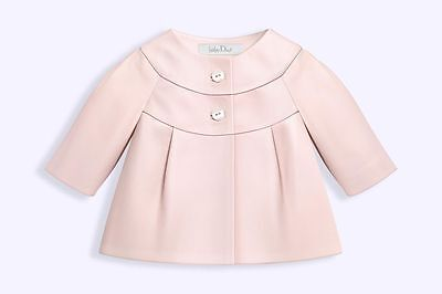 Baby Dior Pink Dipped Lambskin Leather Jacket 12 Months