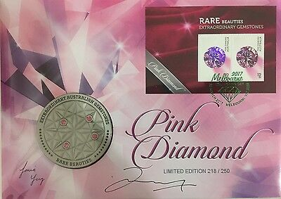 SIGNED Rare Beauties - Pink Diamond Overprint Medallion PNC Ltd Edi Of 250