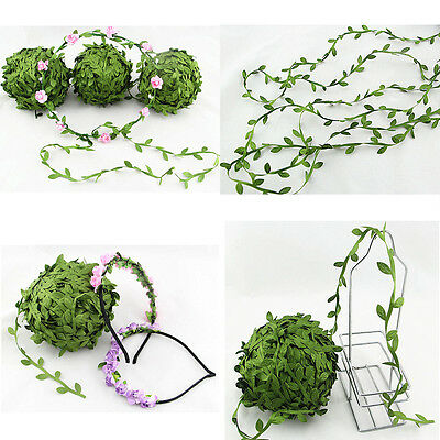 5Meter Silk Leaf Artificial Green Leaves Home Decor DIY Wreath Gift Craft Flower