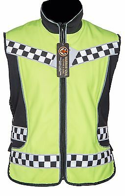 New Motorcycle Cycling Hivis Softshell Waterproof 3M Adjustable Vests Waistcoats