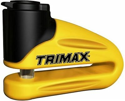 Trimax T665LY Hardened Metal Disc Lock - Yellow 10mm Pin (Long Throat) with P...