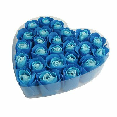 24 PcsScented Rose Flower Petal Bath Body Soap Wedding Party Gift BF