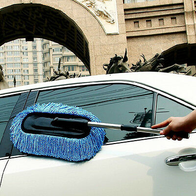Car Microfiber Brush Detail Duster Wash Cleaning Tool Telescope Handle Brushes