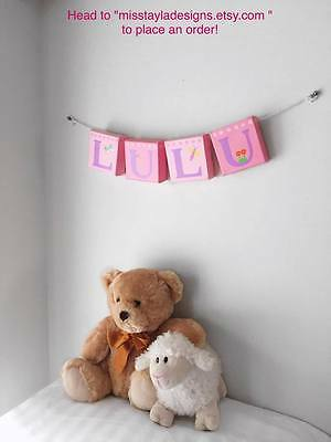 Personalised name banner - nursery decor - children's bedrooms - baby gifts