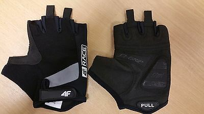 New Cycling 4F Race  Cycling Summer Mesh Light Weight Gel Grippy 3M Hivis Gloves