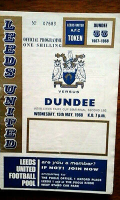 Leeds V Dundee 15/5/1968 Uefa/fairs Cup Semi Final