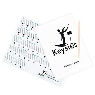 New - Keysies Transparent Plastic Removable Piano and Keyboard Note Stickers ...