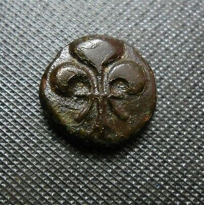 FRENCH INDIA - (Fluer-de-lys)  SYMBOL - DOU DOU  COIN - 1836-1837 - 4.00gm -RARE
