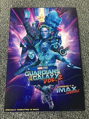"""Guardians of the Galaxy Vol 2 IMAX poster Genuine 13""""x19"""""""