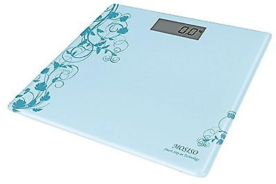 """Mosiso - Ultra Thin High Accuracy Digital Bathroom Scale with """"Smart Step-On""""..."""