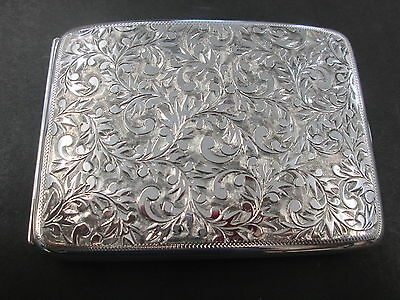 Antique 950 Sterling Silver Cigarette Case ***Beautiful***