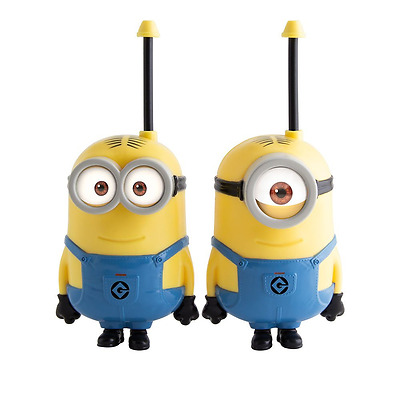 Despicable Me Minions Toy Walkie Talkies Stuart & Dave Set Indoor Outdoor