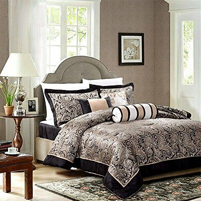 Comforter Set 7 Piece Madison Bedspread with valance sheet Bedding Bedroom Duvet