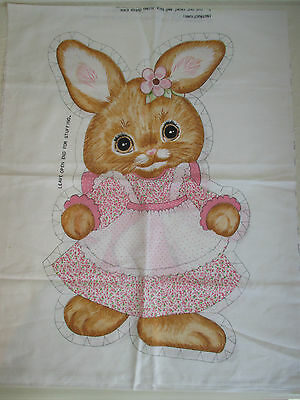 Bunny Stuffed Doll / Cushion Cut & Sew Fabric Panel by Springs Mills # 7507