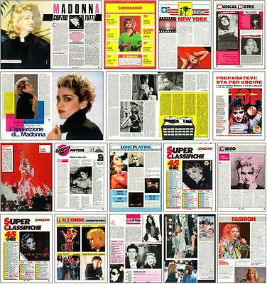 Madonna (1985-1986 Lot Of Italian Clippings Articles)