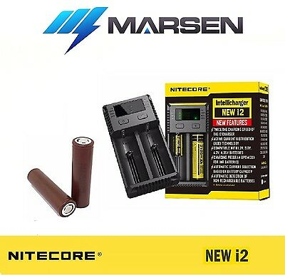 New Nitecore i2 charger with LG Chem HG2 3000mAH 20A High Drain Lithium battery