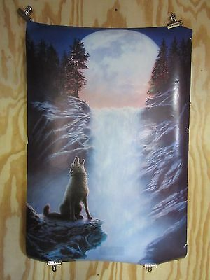 Wolf Howling with Full Moon Poster 3708 Howling Wolf