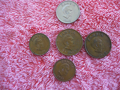 5 Coins from Zambia