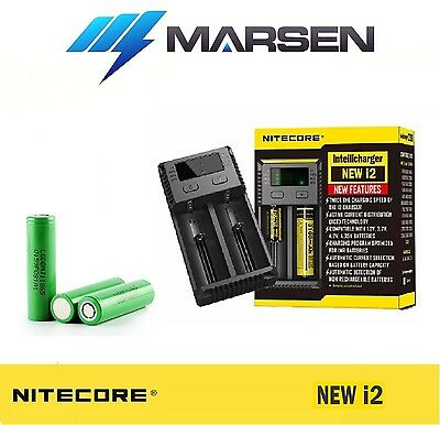 New Nitecore i2 charger with LG Chem MJ1 3500mAh High Capacity Lithium battery