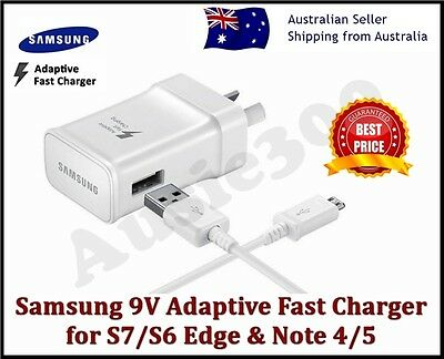 NEW GENUINE SAMSUNG FAST AC Wall Charger For GALAXY S8 S7 S6 Edge Plus Note 4 5