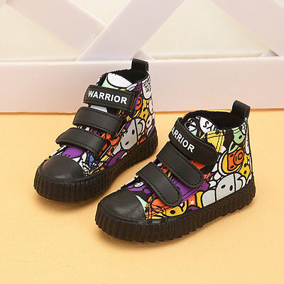 hot kids Children's sports shoes boys girls canvas shoes High-top casual shoes